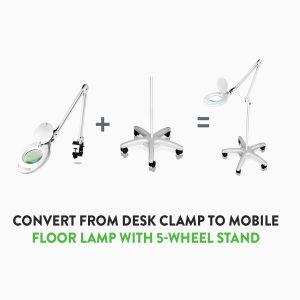 Interchangeable desk and floor Clarity