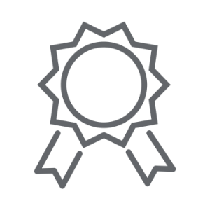 icon gray win badge