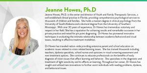 Dr Jeanne Howes, Ph.D bio