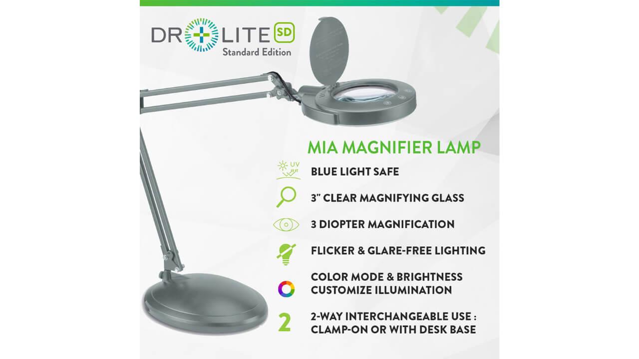 blue light blocking magnifying desk lamp