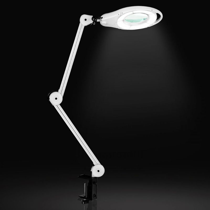 clarity magnifying blue light blocking clamp desk lamp